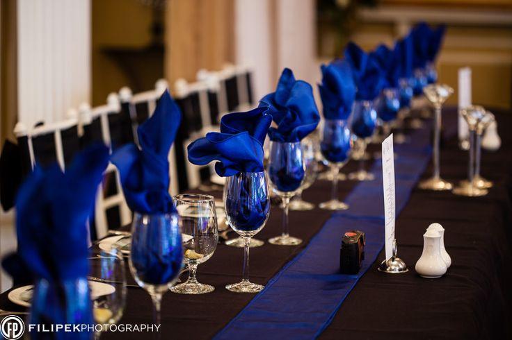 Royal Blue head table