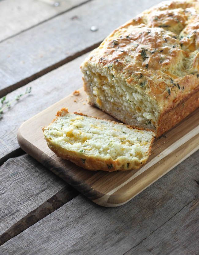 Herbed Buttermilk Cheese Bread - FoodBabbles.com