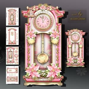 Christmas Decorated Grandfather Clock