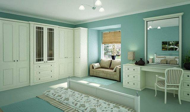 Deniz Mavisi Yatak Odası Dekorasyon Fikirleri