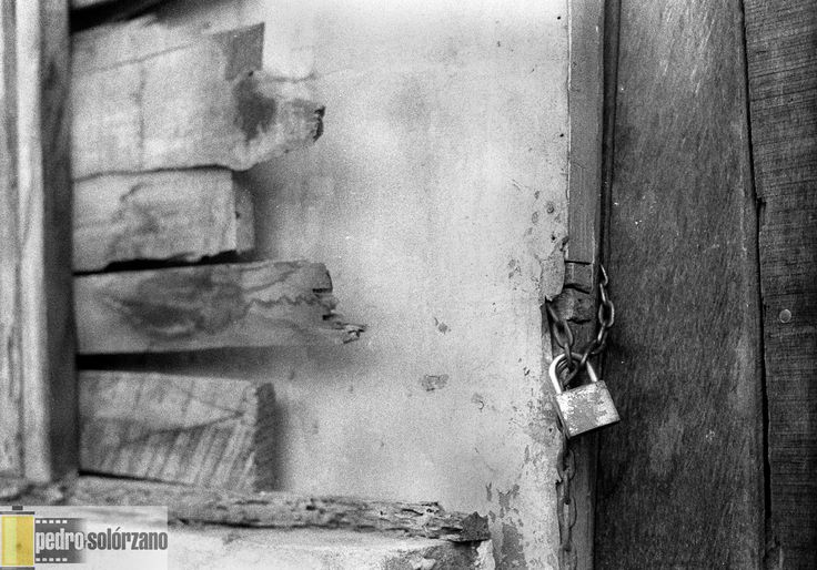 Locked  Old locked door.  Ilford hp5, kodak D76 (1+1).  Canon AE1, 50mm f1.4