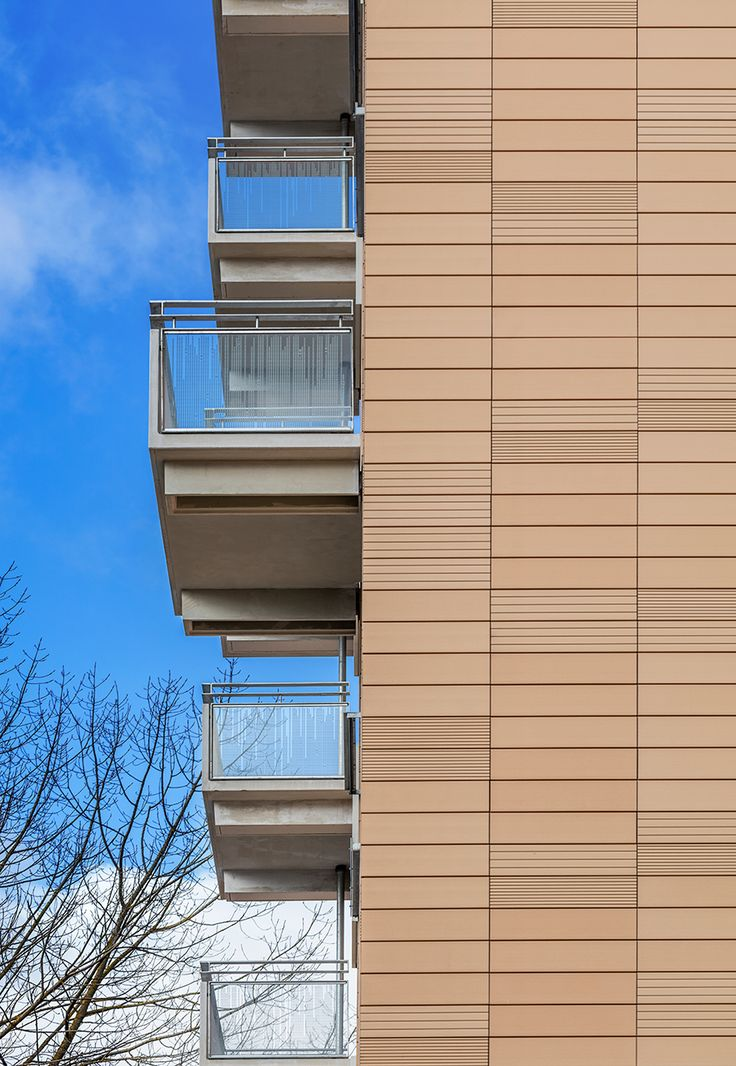 Sjælør Boulevard boligblok - glasværn med digital keramisk print