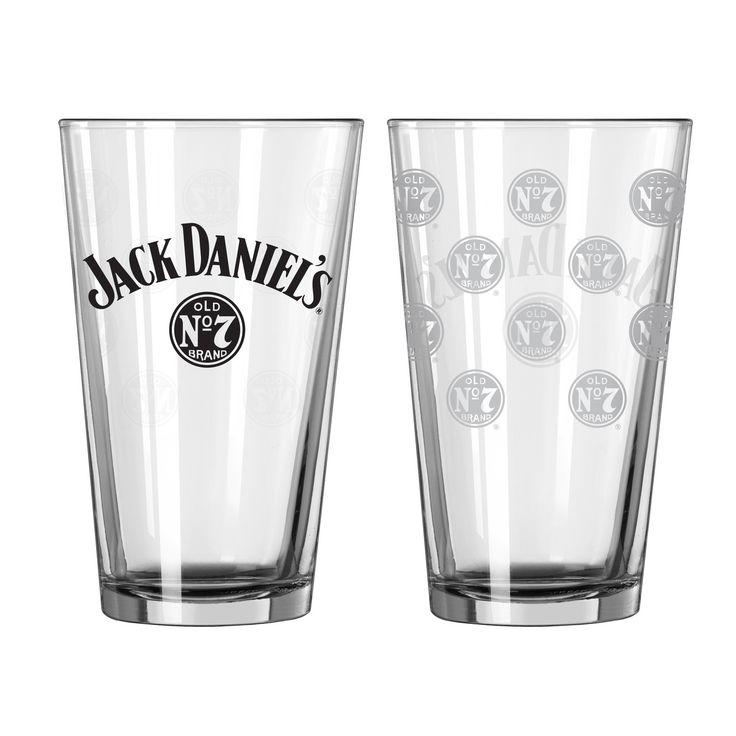 Jack Daniels Glass - Pint - Satin Etch - 16 oz new pint glass