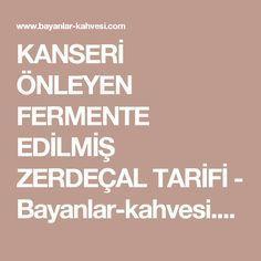 KANSERİ ÖNLEYEN FERMENTE EDİLMİŞ ZERDEÇAL TARİFİ - Bayanlar-kahvesi.com