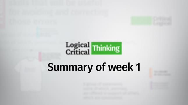 critical thinking chapter summary Chapter 1 what is critical thinking 1 o ften, a good way to begin the process of thinking critically about a subject is to do some conscious thinking about it.