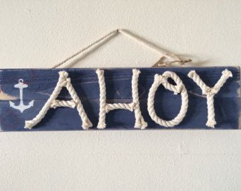 Distressed beach themed signs nautical wood by highplainsknotwork