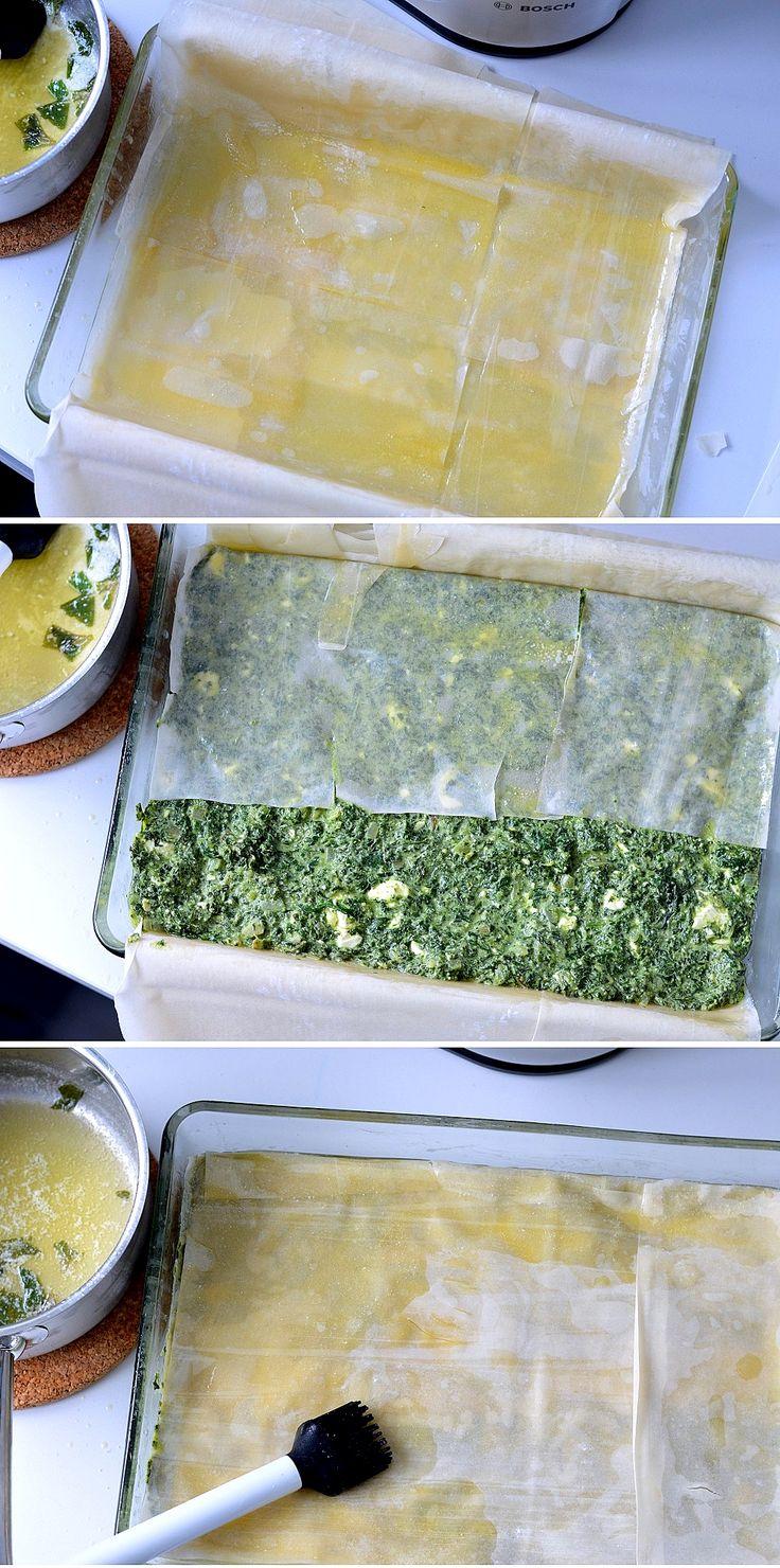 recept spanakopita Griekse spinazie taart in filodeeg betty's kitchen