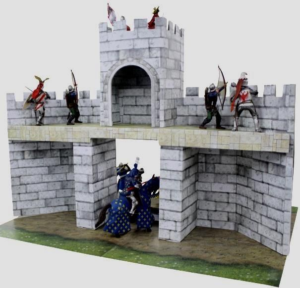 Castle Facade Papercraft for Miniatures Free Template Download