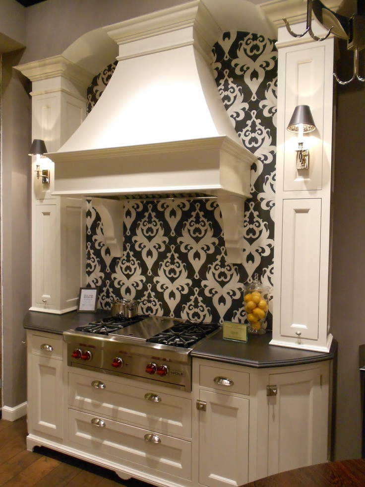 Fun Backsplash Ideas Part - 34: Make A Statement -- Woodmode U0026 Brookhaven Cabinetry + Awesome