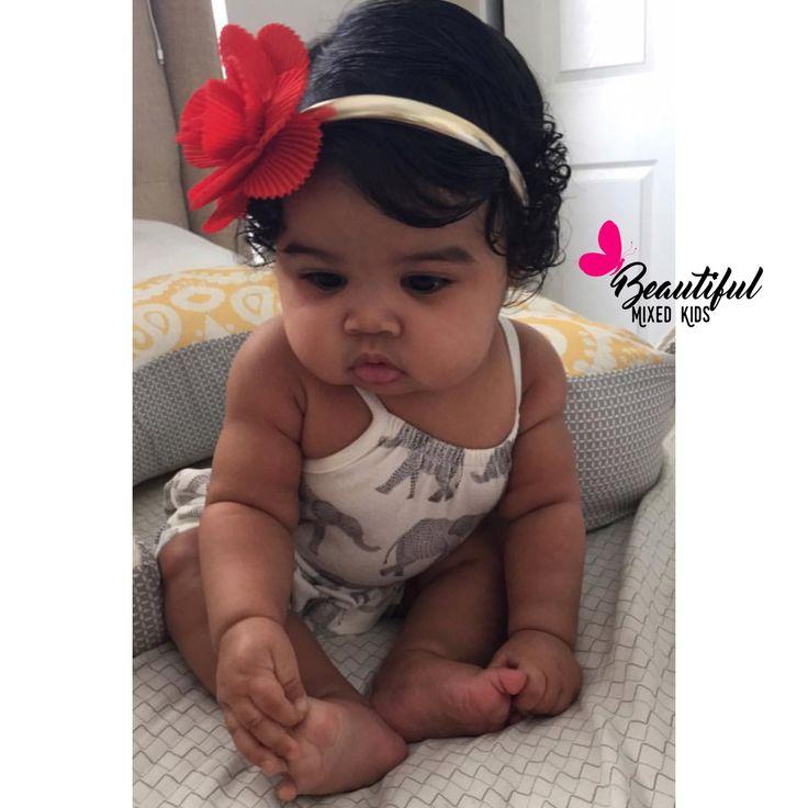Ajayla - 5 Months • African American & Mexican ♥️ FOLLOW @BEAUTIFULMIXEDKIDS http://instagram.com/beautifulmixedkids