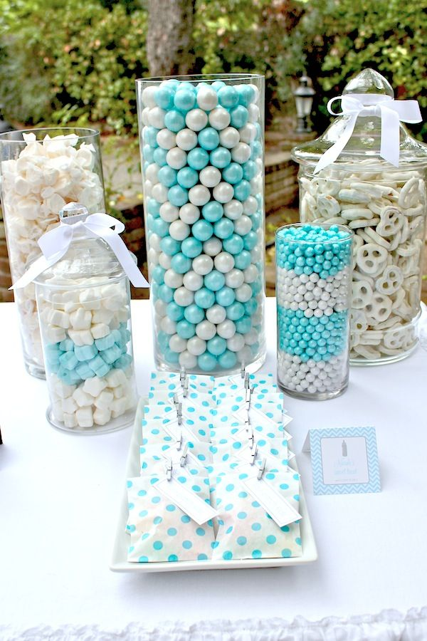 Shake Rattle Roll Boy Girl Baby Shower Planning Ideas.... This is adorable... However...... Who is patient enough to stack those gum balls so perfectly?! LoL I'll call upon you when I have a baby! :-P