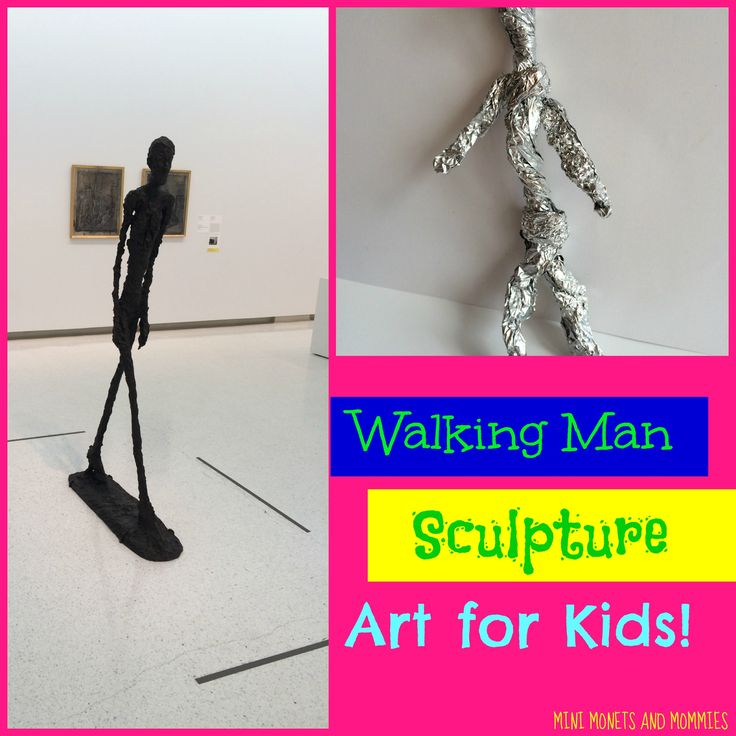 Active Kids' Art with Giacometti's Walking Man Sculpture at Mini Monets and Mommies