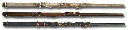 Fabulous Harry Potter wands made using plain paper, glue gun and paints. Need to do this with Thing One!