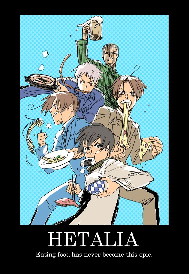 That's Hetalia for you Italy Romano Germany Prussia Japan
