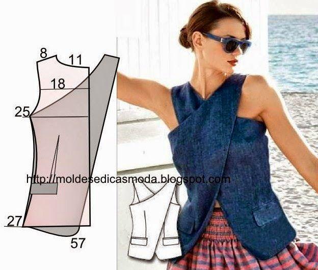 Moldes Moda por Medida: COLETE FÁCIL DE FAZER.