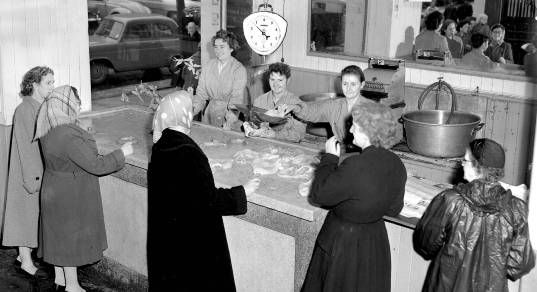 O'Reilly's tripe and drisheen shop at the English Market in 1959
