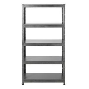 Hammerfast 5 Shelf Heavy Duty Shelving Unit Silver and Black | Officeworks