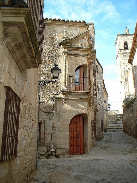 Trujillo near Finca Pascualete cheese maker. Extremadura, Spain.