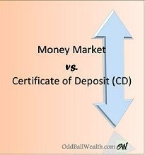 Money Market vs. Certificate of Deposit (CD) - know the difference between a Money Market Account and a Certificate of Deposit.
