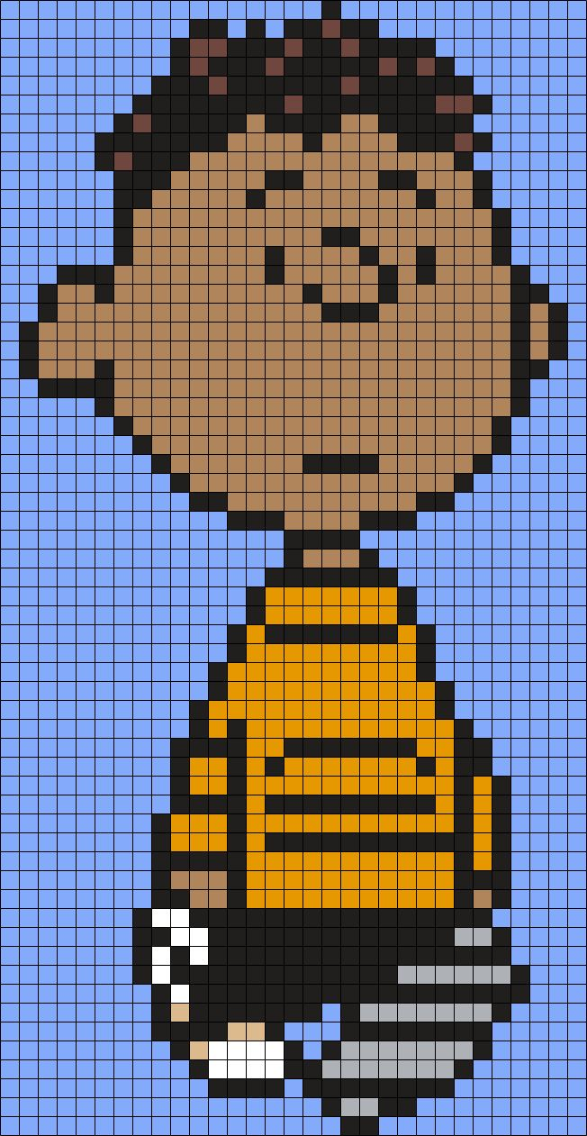Franklin From Snoopy And The Peanuts Gang Perler Bead Pattern / Bead Sprite