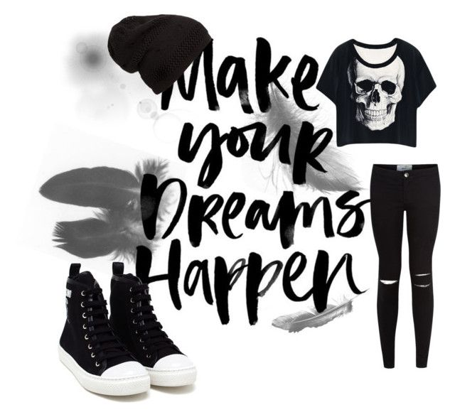 Black Dreamer by stelamahomie on Polyvore featuring Moschino, women's clothing, women's fashion, women, female, woman, misses and juniors