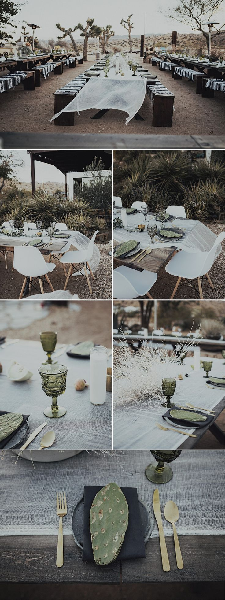 Take a look at this stunning table styling at Sacred Sands in Joshua Tree, California.   Photos: Branch & Cole