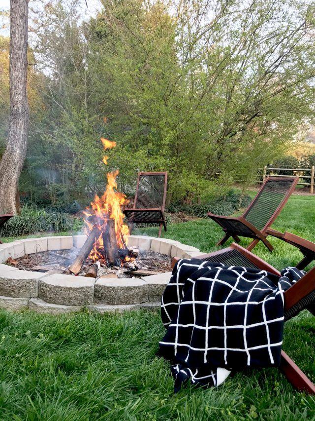 Fire Pit Friday Nights Emily A Clark Backyard Fireplace Ikea Chair Fire Pit