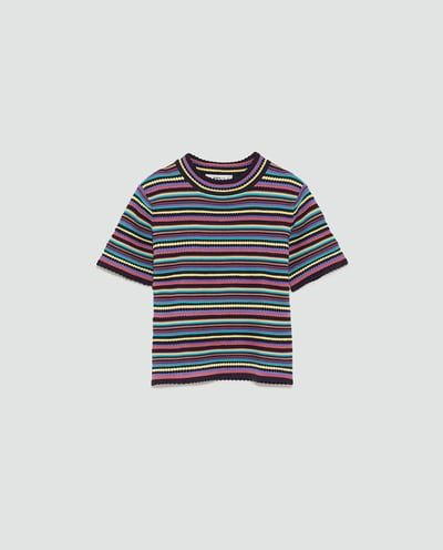 SWEATER WITH MULTICOLOURED STRIPES-View All-TOPS-WOMAN   ZARA United States
