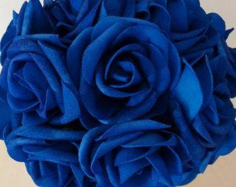 100 pcs Royal Blue Wedding Arrangement by HandcraftsInStudio
