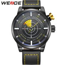 WEIDE Watch Men Sport Water Resistant Men's Quartz Movement Military Leather Strap Watches Casual Watch for Men Gift / WH5201(China (Mainland))