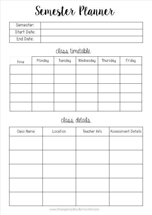 The  Best Student Planner Printable Ideas On