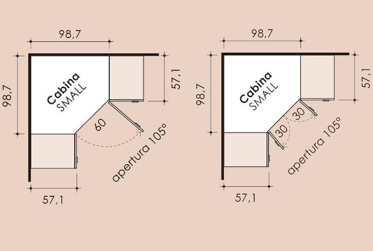 Risultati immagini per misure per dispensa ad angolo a tutta altezza