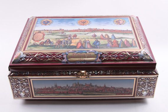 Lebkuchen-Schmidt Vintage Tin Box Germany Large Nurenberg Von Giidosten 1575 Cookie Tin Ornate  The Pink Room  161208 by ThePinkRoom