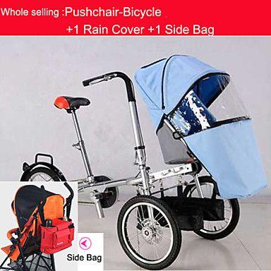"""intero insieme passeggino-bicicletta per singolo bambino + parapioggia + bag lato ruituo ™ 16 """"trasporto bici passeggino convertibile del 2016 a €617.39"""