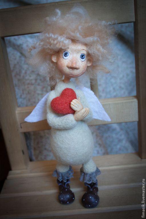 Купить Апрелькин (домашний ангел) - ангел, ангелочек, душевный подарок, настроение, теплый подарок, сердечко