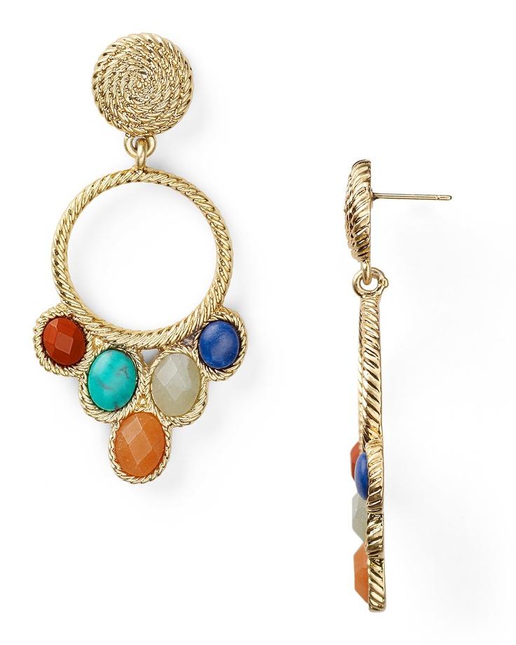 Carolee Lux Gypsy Circle Drop Earrings Jewelry Accessories Bloomingdale S Gypsies Bohemians Pinterest