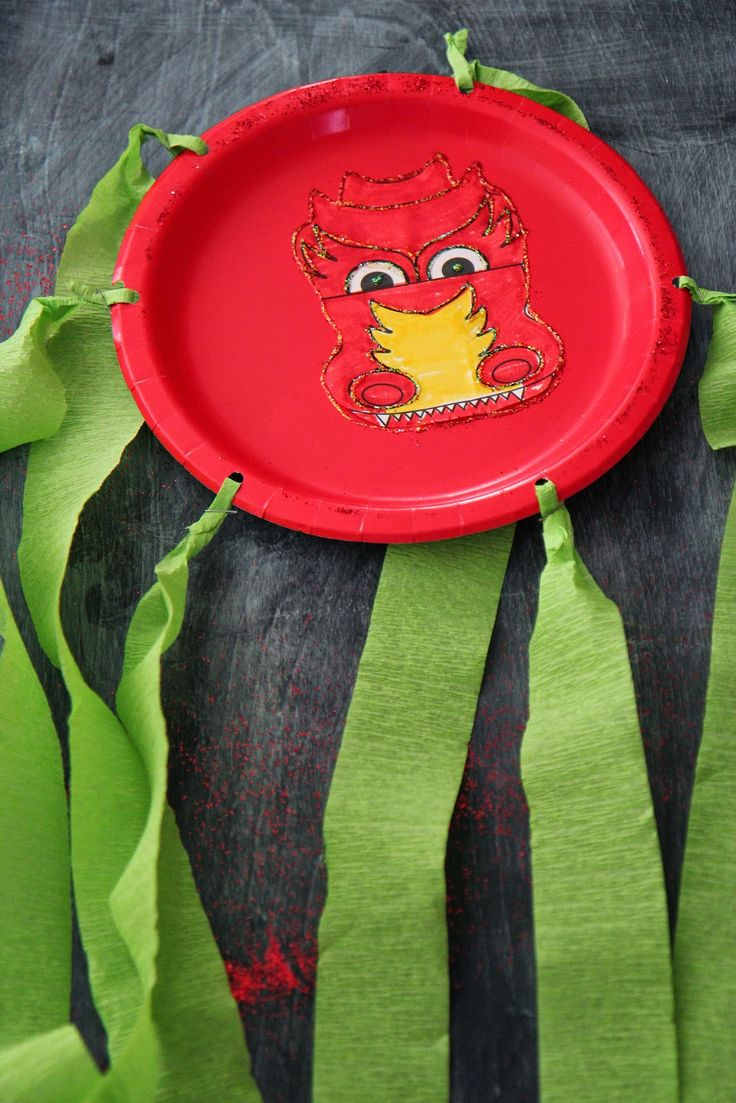 Chinese New Year Craft Activity: Paper Plate Dragons