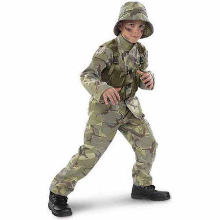 Delta Force Army Ranger Child Halloween Costume, Boy's, Size: Small
