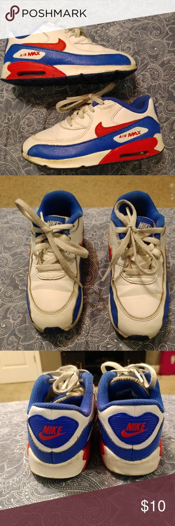 Nike Air Max Patriotic for Boys size 10c toddlers These shoes are so cute and where one of our favorites but they still have plenty of life left and have no major wear. Nike Shoes Sneakers