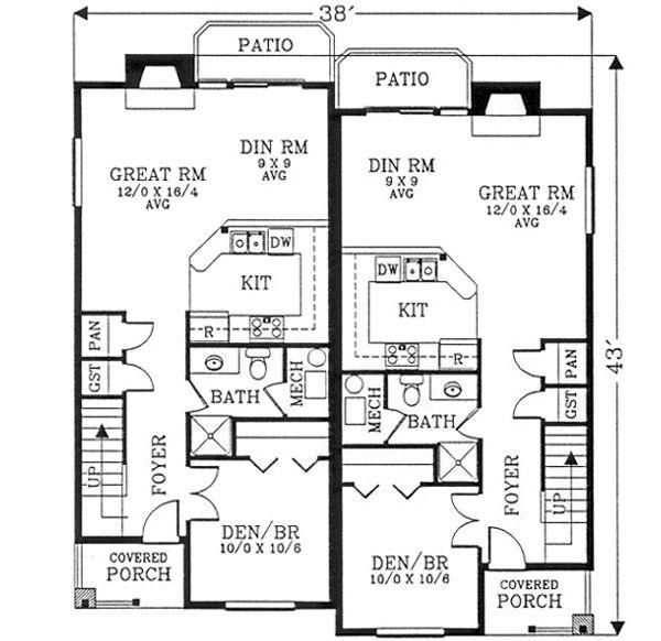 Monster house plans duplex