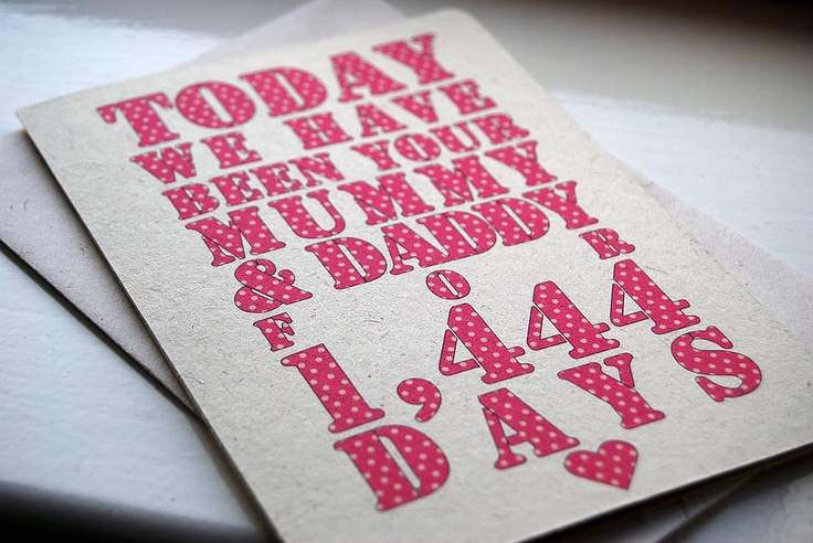 Today We Have Been Your Mommy And Daddy For ... DaysGift Ideas, Diy Gift, Dads, Products
