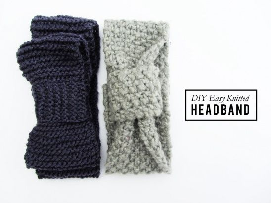 Here is my take on the newbie knitted headband! What great first time project if you are just learning how to knit!