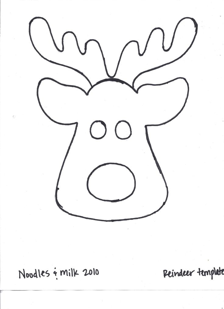Reindeer outline for t-shirt applique! found at: http://noodlesandmilk.blogspot.pt/2010/11/too-cute-reindeer-shirt-tutorial.html