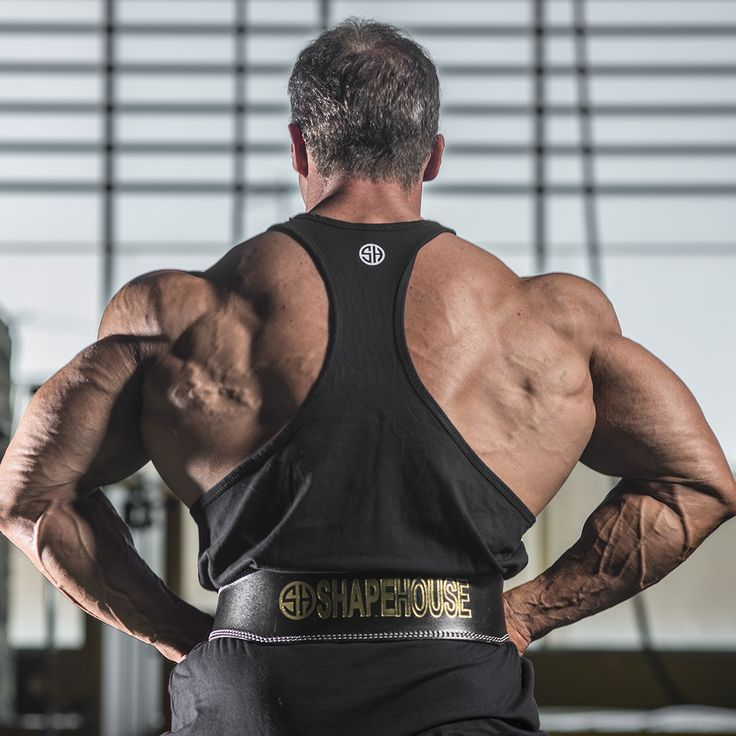 Weightlifting belt – black leather