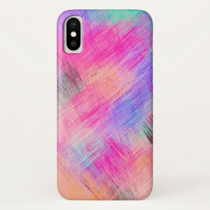 Pastel Colorful Abstract Background #4 iPhone X Case - girly gift gifts ideas cyo diy special unique