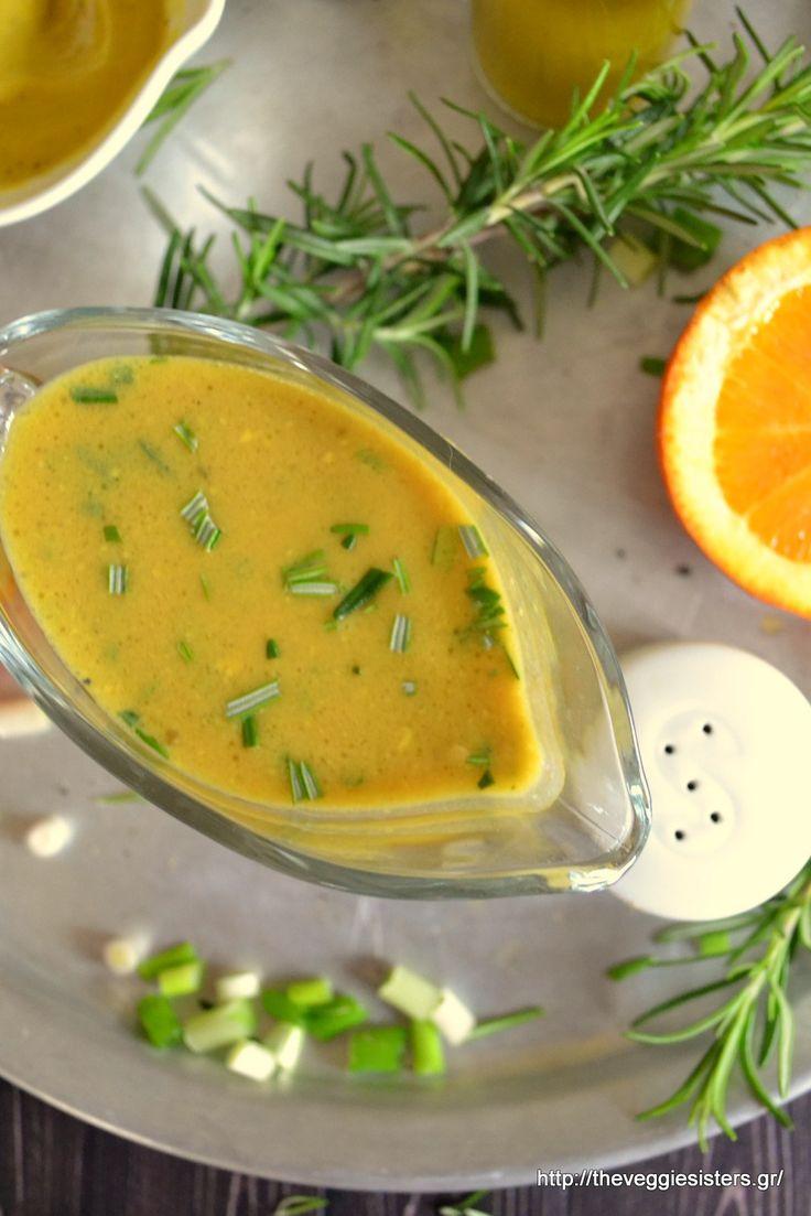 Aromatic orange mustard dressing with rosemary