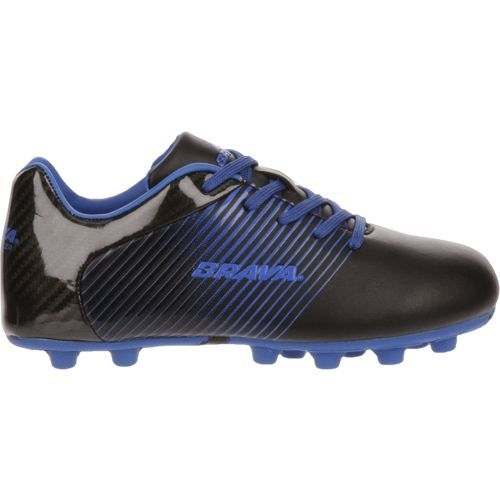 Brava Soccer Boys' Racer Cleats (Patent Black/Royal Blue, Size 10) - Youth Soccer Shoes at Academy Sports