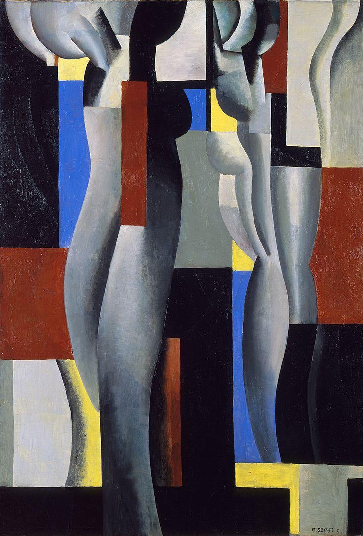Gustave Buchet - Composition les cariatides, 1927