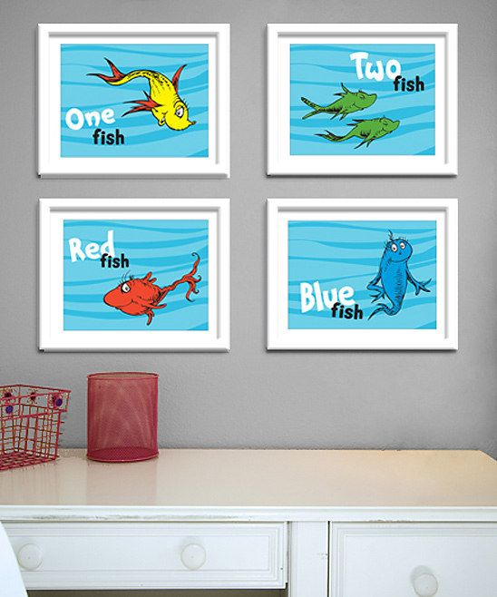 'One Fish, Two Fish, Red Fish, Blue Fish' Print from the #DrSeuss Boutique on #zulily