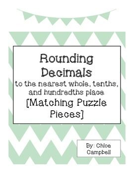 Check out this freebie! Rounding Decimals to the nearest whole, tenths, and hundredths matching activity! Can be used in small group, with a partner, or at a station!
